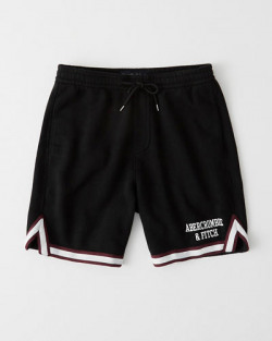 Bottom Hem Embroidered Logo Shorts | Tuggl